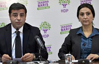 HDP eş genel başkanları Demirtaş ve Yüksekdağ...