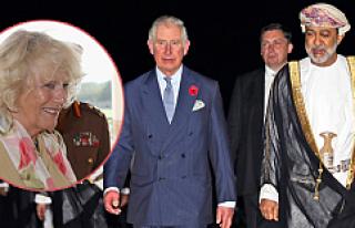 Prens Charles ve eşi Cornwall Düşesi Camilla, Umman'da
