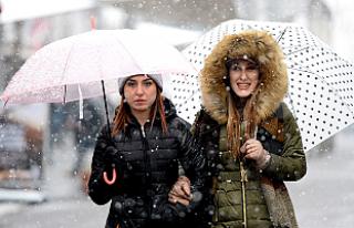 Moda değil, kar defilesi