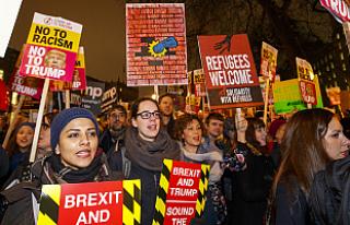 Trump'ın vize yasağına Londra'da gece...
