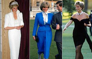 Prenses Diana'nın kıyafetleri Londra'da...
