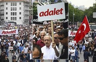 CHP, Ankara'dan İstanbul'a 'Adalet...