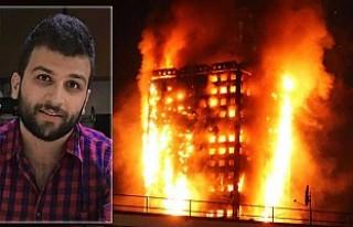 Suriye cehenneminden kurtuldu, Londra yangınında...
