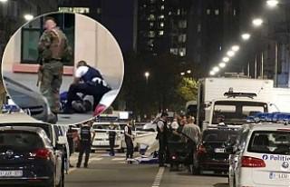Belçika'da askerlere saldıran palalı terörist...