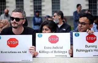 Arakan'daki Müslüman katliamı Londra'da...