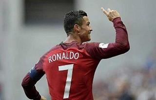 Ronaldo millî formayla şov yaptı