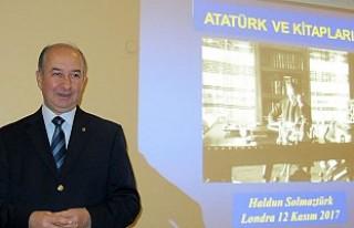 Solmaztürk, Londra'da 'Atatürk ve Kitapları'nı...