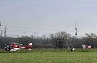 Almanya'da uçakla helikopter çarpıştı