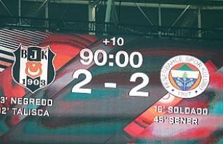 Beşiktaş, final şansını ikinci maça bıraktı