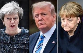 May, Trump ve Merkel ile, 'Rusya'yı konuştu