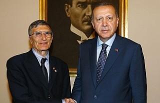 Cumhurbaşkanı Erdoğan, Aziz Sancar'ı kabul...