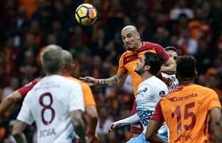 Galatasaray, Trabzonspor'a puan vermedi