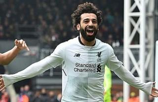 Liverpool'un Mısırlı yıldızı Mohamed Salah...