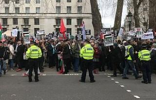 Londra'da Filistin'e destek, İsrail'i...