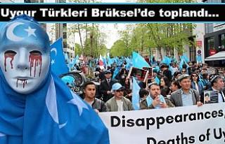 Uygurlara yönelik baskılar Brüksel'de protesto...