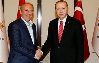 Cumhurbaşkanı Erdoğan, Muharrem İnce ile biraraya...