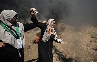 Gazze'de şehit edilen Filistinli sayısı 52'ye...