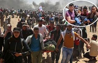 İsrail, Gazze Sınırında 41 Filistinli'yi...