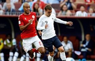 Fransa ile Danimarka Dünya Kupasında son 16'ya...