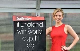 İngiltere kupayı kazanırsa ekrana çıplak çıkacak