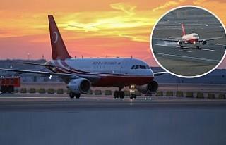 İstanbul Yeni Havalimanı'na İlk İnişi Erdoğan'ın...