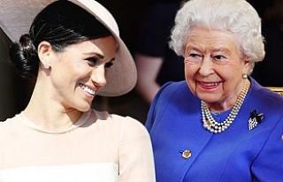 Kraliçe Elizabeth, trenine Meghan Markle'ın...