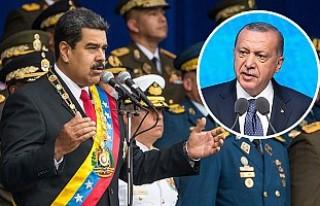 Erdoğan'dan Maduro'ya 'Geçmiş Olsun'...