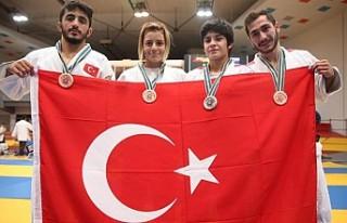Genç millilerden judoda 1 gümüş, 3 bronz