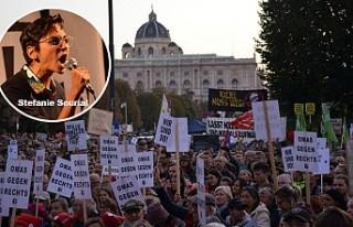 Avusturya'da halk hükümete karşı meydanlarda