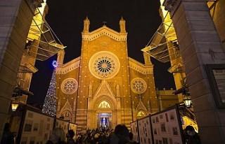 İstanbul'da Noel ayini düzenlendi