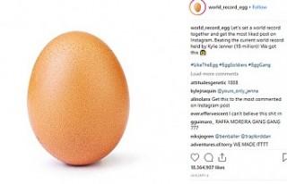 İnstagram rekoru 'yumurta' fotoğrafıyla...