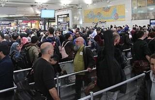 Atatürk Havalimanı'nda 'seçim' yoğunluğu