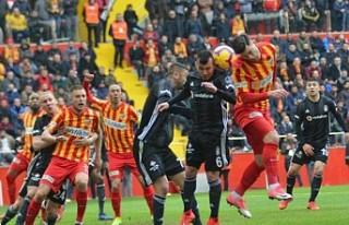 Beşiktaş, Kayserispor ile 2-2 berabere kaldı