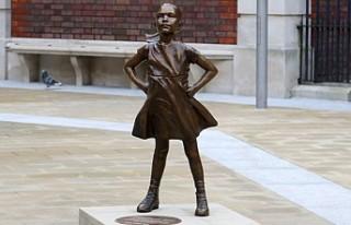 'Korkusuz Kız' Londra Borsası Önünde