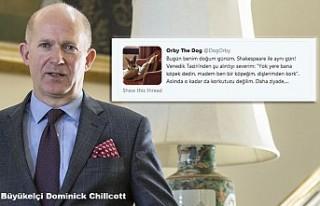 Büyükelçinin köpeğinin de Twitter hesabı var