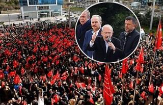 Kılıçdaroğlu saldırı sonrası parti merkezi...