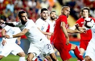 Hazırlık maçında Türkiye: 2 - Yunanistan: 1
