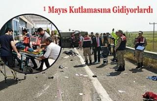 İşçi Taşıyan Otobüs Kaza Yaptı: 5 Ölü