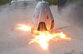 SpaceX'in personel taşıyıcı mekiği yer testinde...