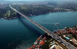 Fatih Sultan Mehmet Köprüsü'nde çalışma...