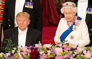 Kraliçe II. Elizabeth'ten Trump onuruna akşam...