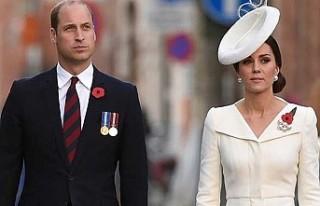 Prens William ve Düşes Kate'in konvoyundaki...