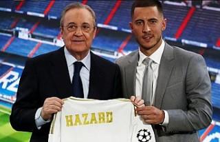 Real Madrid, en pahalı transferi Hazard'ı tanıttı