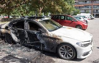 Yunanistan'da Türk diplomatların araçları...