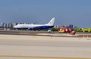 Almanya'dan gelen uçak Tel Aviv'e sorunsuz...