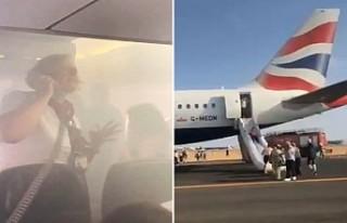 Londra'dan Valencia'ya giden uçak kabini...