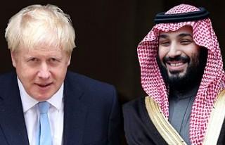 Boris Johnson'dan, Suudi Prens Selman'a...