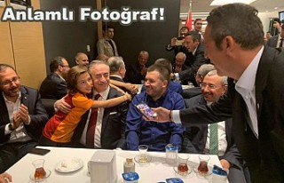 Derbi sonrası Ali Koç çekti, Mustafa Cengiz poz...