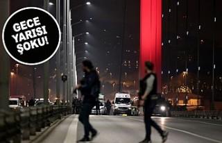 Elindeki silahla 15 Temmuz Şehitler Köprüsü'nde...