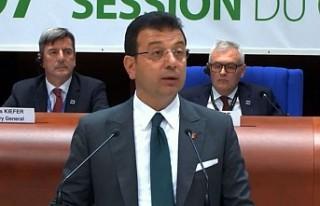 İmamoğlu, Avrupa Konseyinde Konuştu